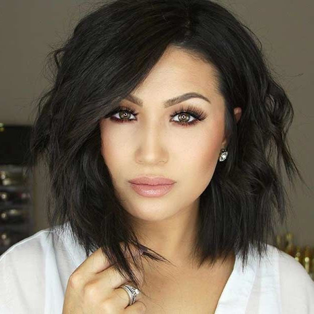 31 Best Shoulder Length Bob Hairstyles | Hair Dos | Pinterest | Hair With Regard To Lip Length Tousled Brunette Bob Hairstyles (View 9 of 25)