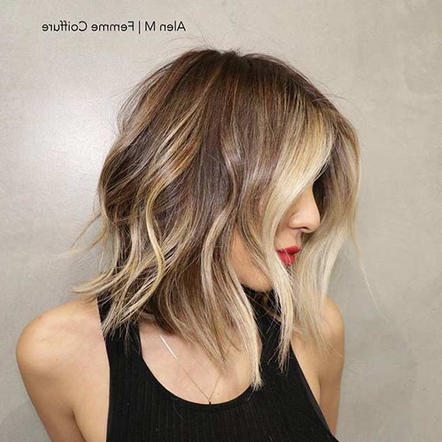 31 Best Shoulder Length Bob Hairstyles | Stayglam Within Balayage Bob Haircuts With Layers (View 13 of 25)