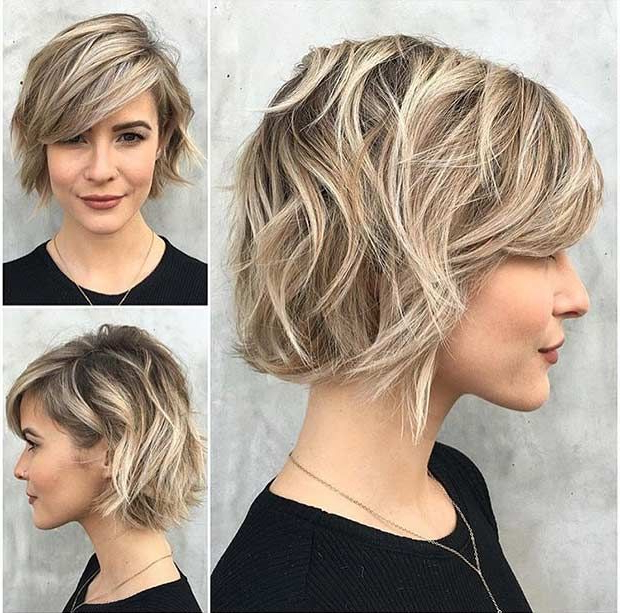 31 Cool Balayage Ideas For Short Hair | Stayglam Hairstyles Pertaining To Choppy Rounded Ash Blonde Bob Haircuts (View 23 of 25)