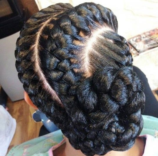 31 Goddess Braids Hairstyles For Black Women | Page 2 Of 3 | Stayglam Throughout Fiercely Braided Ponytail Hairstyles (View 19 of 25)
