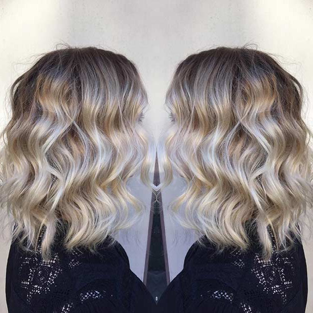 31 Gorgeous Long Bob Hairstyles | Page 2 Of 3 | Stayglam In High Contrast Blonde Balayage Bob Hairstyles (View 13 of 25)