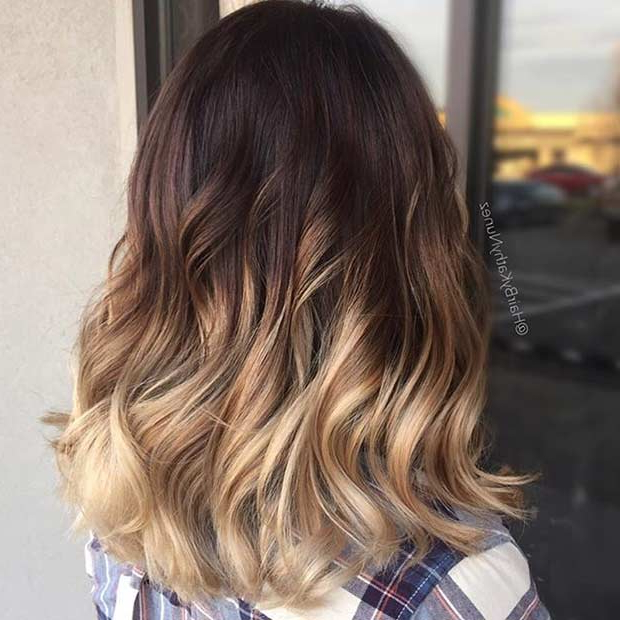 31 Gorgeous Long Bob Hairstyles | Page 2 Of 3 | Stayglam With Regard To High Contrast Blonde Balayage Bob Hairstyles (View 4 of 25)