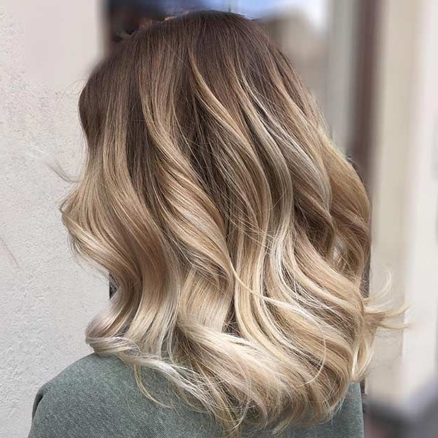 31 Gorgeous Long Bob Hairstyles | Stayglam Hairstyles | Pinterest Intended For High Contrast Blonde Balayage Bob Hairstyles (View 2 of 25)