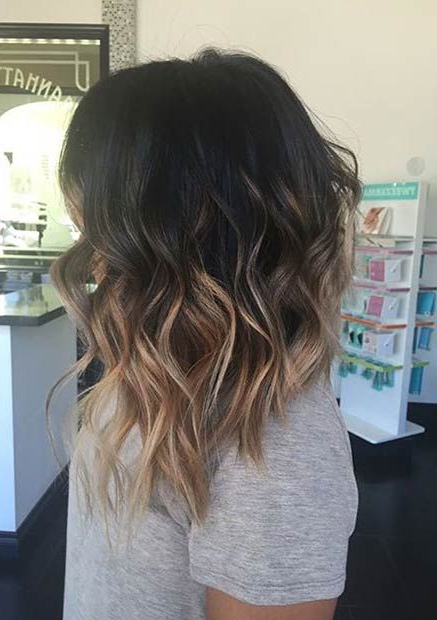 31 Lob Haircut Ideas For Trendy Women In 2018 | Hairstyles Regarding High Contrast Blonde Balayage Bob Hairstyles (View 9 of 25)