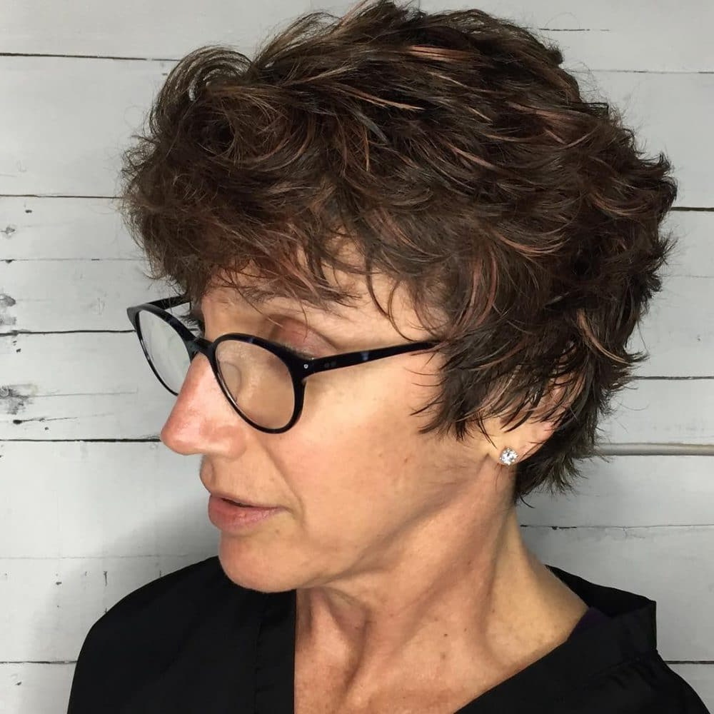 32 Flattering Short Haircuts For Older Women In 2018 Inside Short Haircuts For Glasses (View 21 of 25)