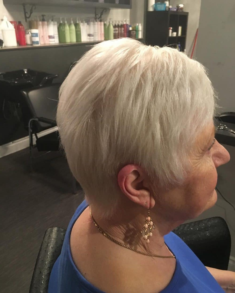 32 Flattering Short Haircuts For Older Women In 2018 Regarding Choppy Short Hairstyles For Older Women (View 14 of 25)