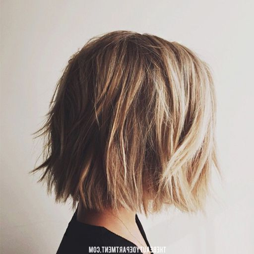 32 Hottest Bob Haircuts & Hairstyles You Shouldn't Miss – Bob With Regard To Choppy Wispy Blonde Balayage Bob Hairstyles (View 10 of 25)
