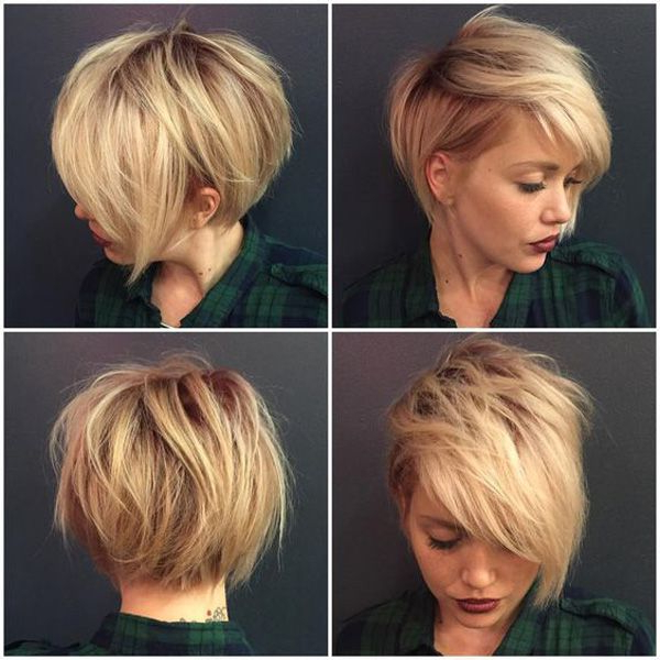 32 Trendy Hairstyles And Haircuts For Round Face   Pixie   Pinterest Within Rounded Pixie Bob Haircuts With Blonde Balayage (View 6 of 25)