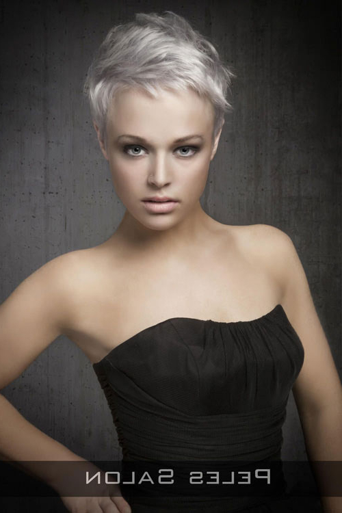 33 Flattering Short Hairstyles For Round Faces In 2018 For Sexy Pixie Hairstyles With Rocker Texture (View 24 of 25)