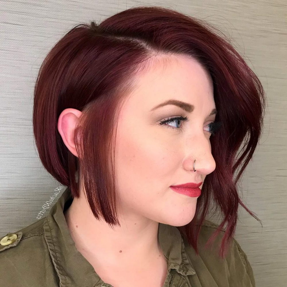 33 Flattering Short Hairstyles For Round Faces In 2018 Within Funky Short Haircuts For Round Faces (View 22 of 25)