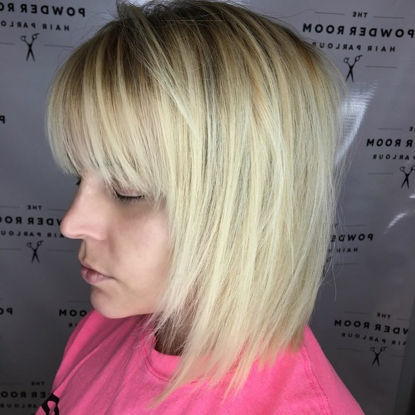 33 Flattering Short Hairstyles For Round Faces In 2018 Within Rounded Tapered Bob Hairstyles With Shorter Layers (View 9 of 25)