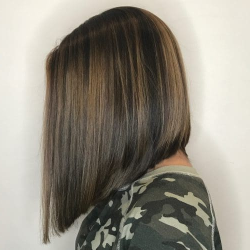 33 Hottest A Line Bob Haircuts You'll Want To Try In 2018 With A Line Amber Bob Haircuts (View 21 of 25)
