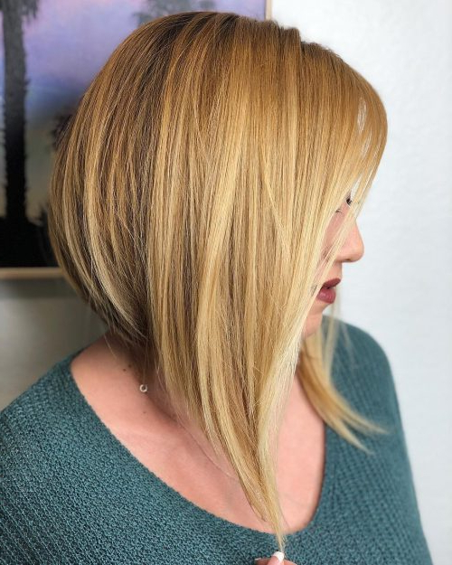 33 Hottest A Line Bob Haircuts You'll Want To Try In 2018 With A Line Amber Bob Haircuts (View 2 of 25)