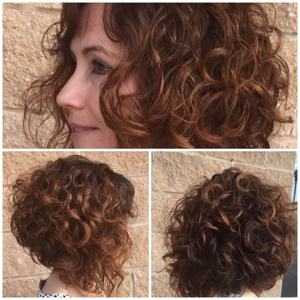 33 Hottest Short Curly Hairstyles Trending In 2018 Within Angled Brunette Bob Hairstyles With Messy Curls (View 11 of 25)