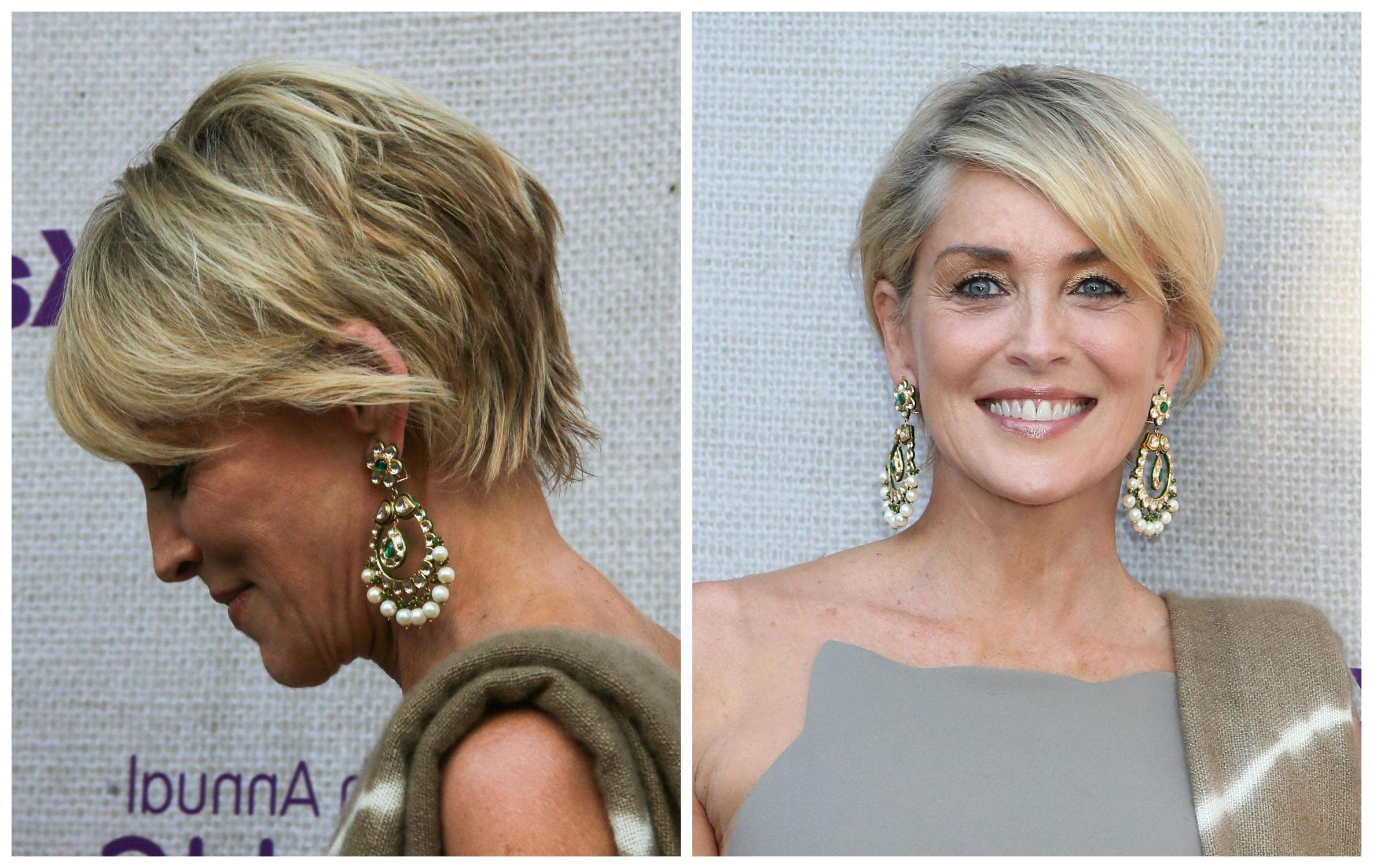 34 Gorgeous Short Haircuts For Women Over 50 With Sharon Stone Short Haircuts (View 17 of 25)