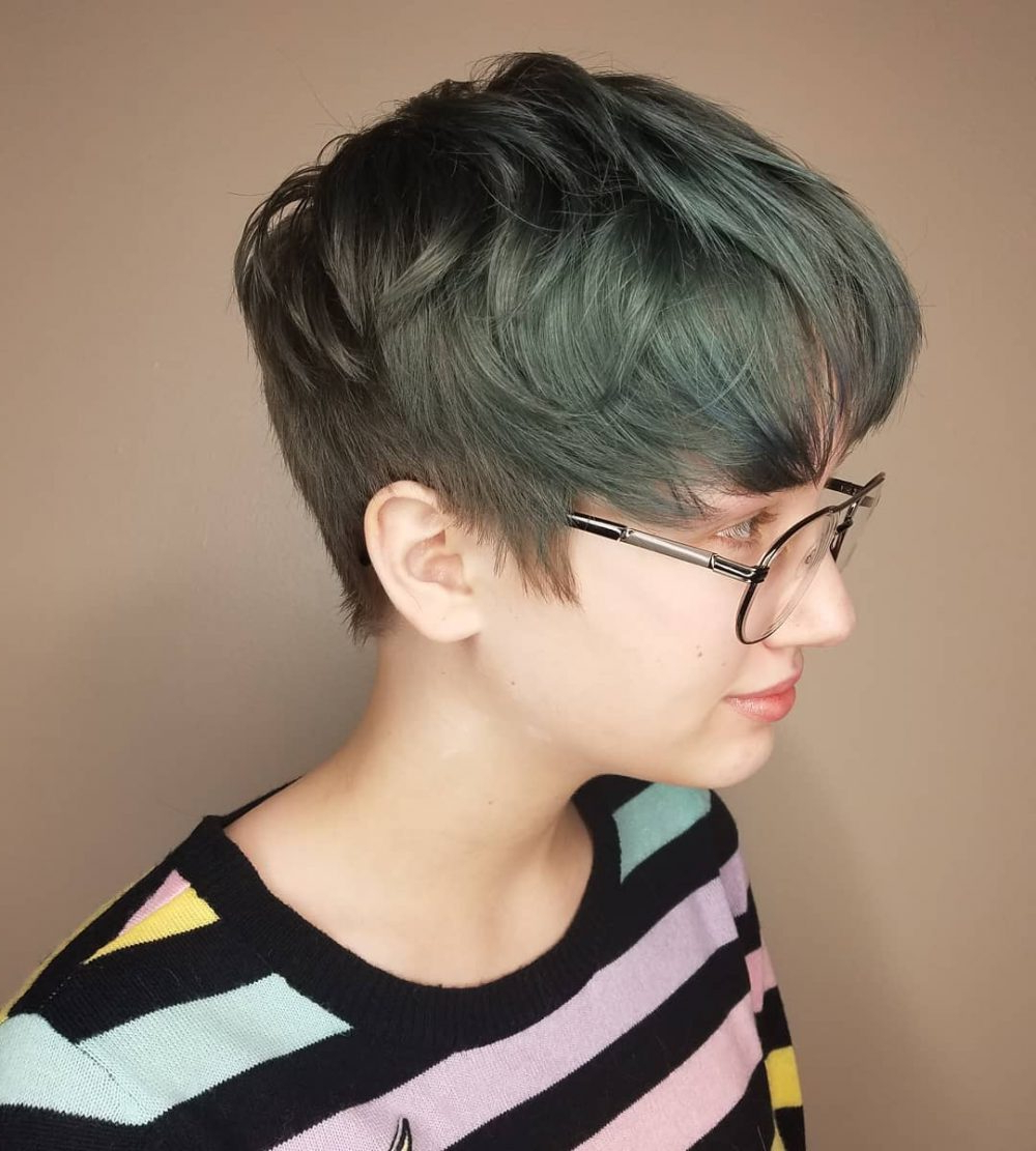 34 Greatest Short Haircuts And Hairstyles For Thick Hair For 2018 For Messy Curly Pixie Hairstyles (View 25 of 25)