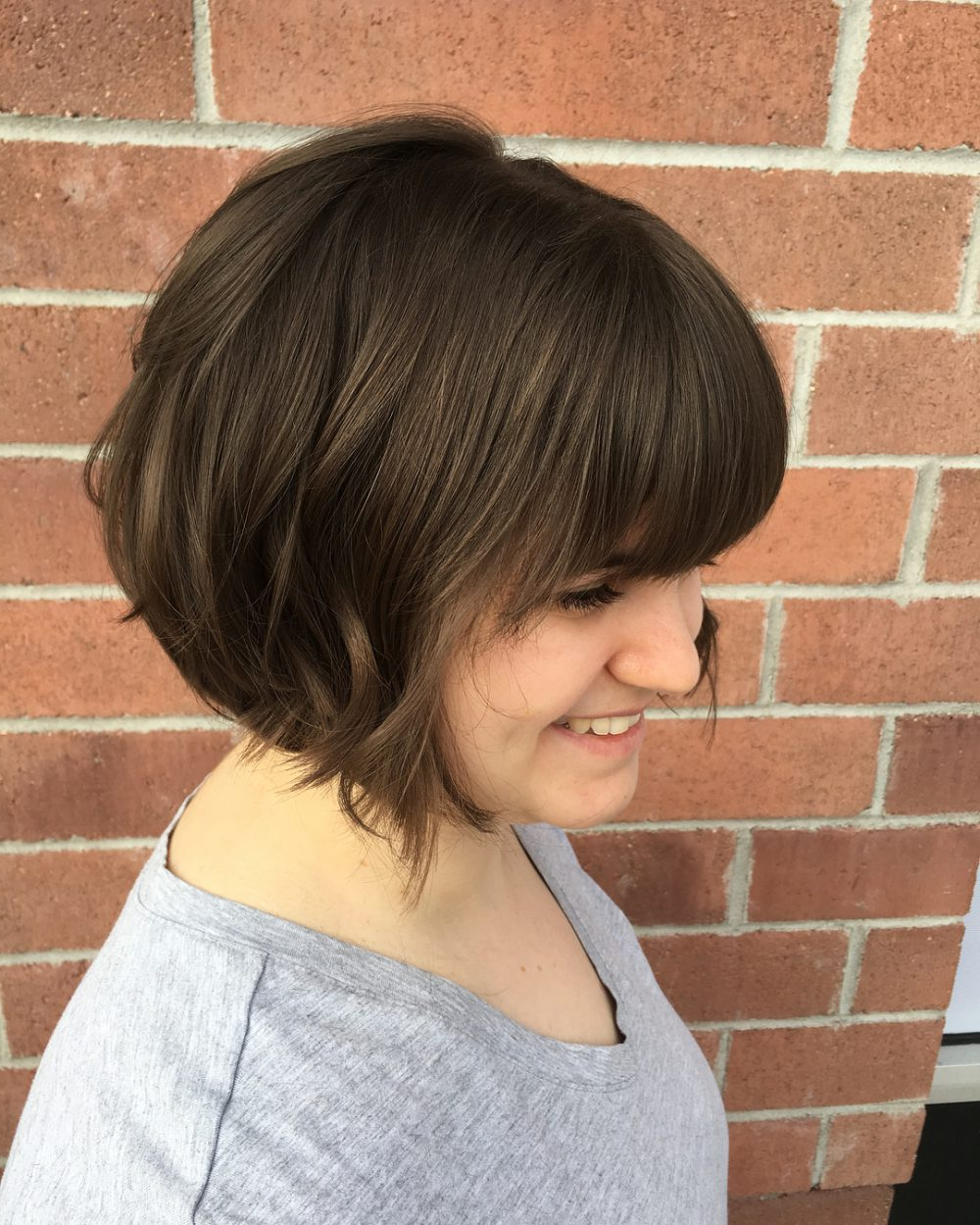 34 Greatest Short Haircuts And Hairstyles For Thick Hair For 2018 With Regard To Short Haircuts With Long Side Bangs (View 20 of 25)