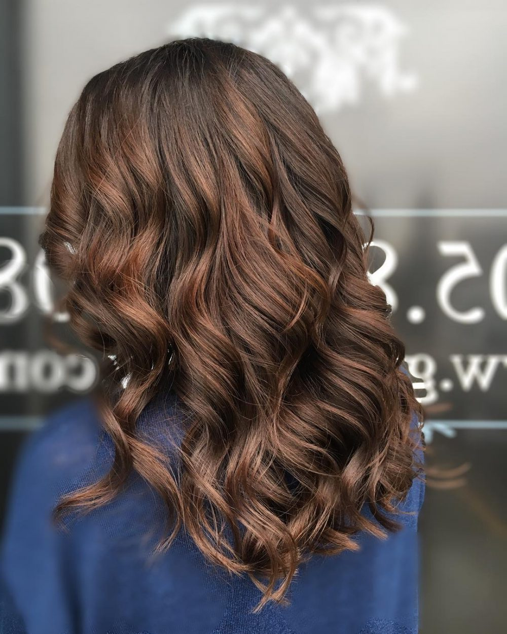 34 Sweetest Caramel Highlights On Light To Dark Brown Hair (2018) Pertaining To Curly Dark Brown Bob Hairstyles With Partial Balayage (View 18 of 25)