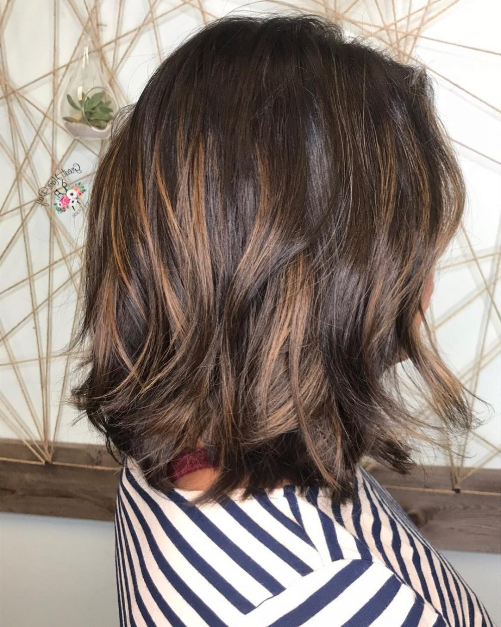 34 Sweetest Caramel Highlights On Light To Dark Brown Hair (2018) With Curly Dark Brown Bob Hairstyles With Partial Balayage (View 10 of 25)