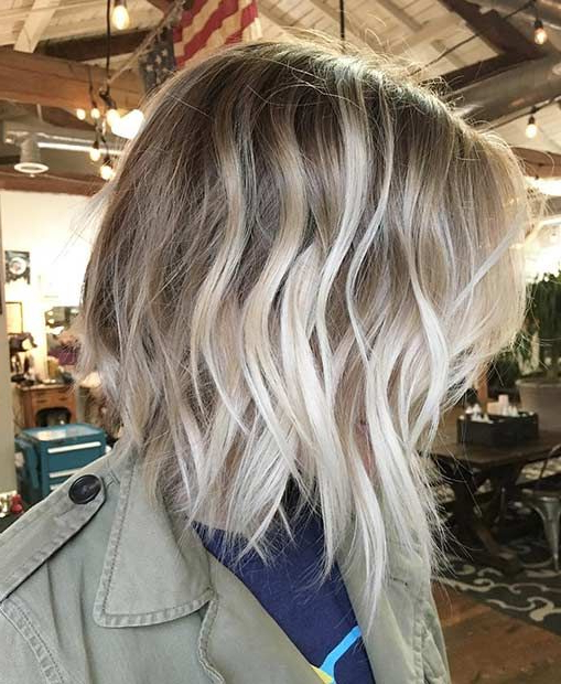 35 Balayage Styles And Color Ideas For Short Hair Pertaining To High Contrast Blonde Balayage Bob Hairstyles (View 7 of 25)