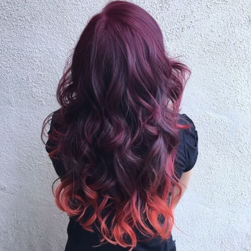 35 Best Burgundy Hair Ideas Of 2018 – Yummy Wine Colors Within Burgundy And Tangerine Piecey Bob Hairstyles (View 18 of 25)