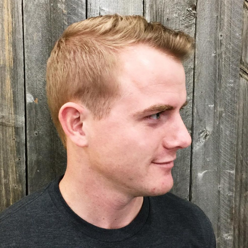 35 Best Hairstyles For Men With Thin Hair (Add Volume In 2018) Throughout Short Haircuts For High Foreheads (View 17 of 25)