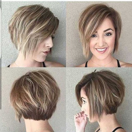 35 Best Layered Short Haircuts For Round Face 2018 | Short Regarding Rounded Tapered Bob Hairstyles With Shorter Layers (View 8 of 25)