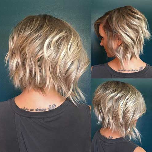 35 Best Layered Short Haircuts For Round Face 2018 | Short With Regard To Choppy Rounded Ash Blonde Bob Haircuts (View 21 of 25)