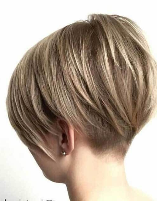 35 Chic Bob Haircut & Hair Styles | Bob Hairstyles | Pinterest Intended For Bronde Balayage Pixie Haircuts With V Cut Nape (View 10 of 25)