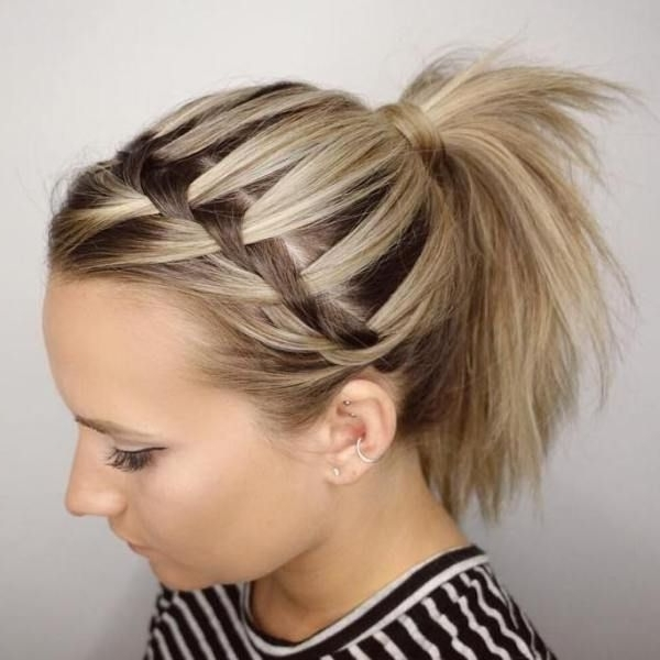 35 Fetching Hairstyles For Straight Hair To Sport This Season With Straight Triple Threat Ponytail Hairstyles (View 4 of 25)