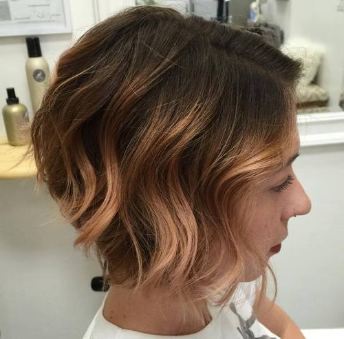 35 Hottest Short Ombre Hairstyles For 2019 – Best Ombre Hair Color Ideas In Stacked Copper Balayage Bob Hairstyles (View 18 of 25)