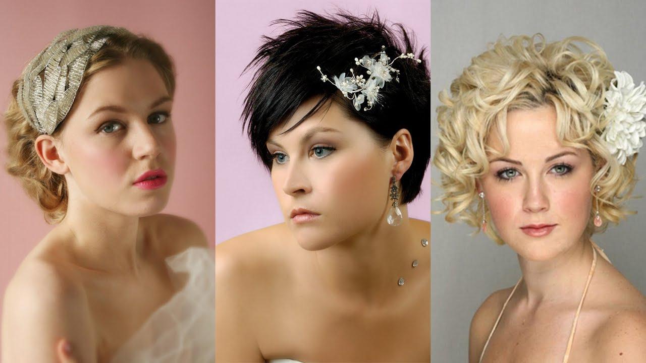 35 Lovely Wedding Hairstyles For Short Hair – Youtube In Hairstyle For Short Hair For Wedding (View 2 of 25)