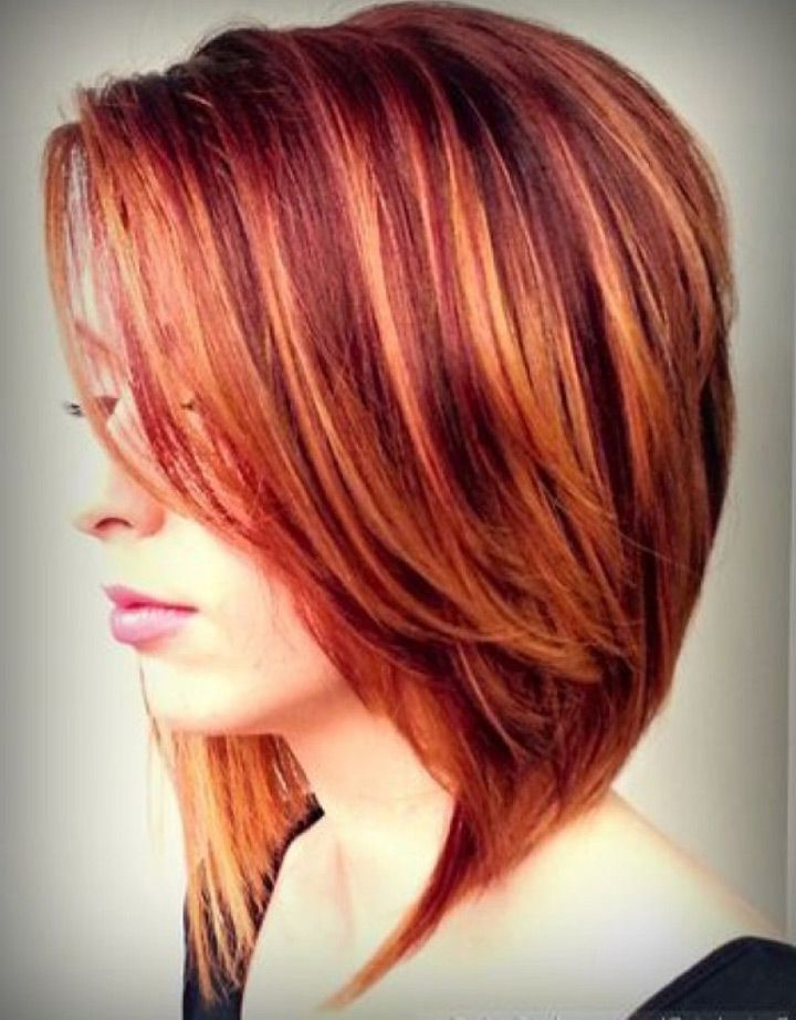 35 Medium Length Hairstyles You'd Love To Wear ~ We ? This With Regard To Burgundy And Tangerine Piecey Bob Hairstyles (View 10 of 25)