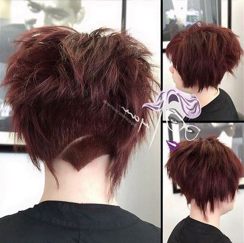 35 Short Punk Hairstyles To Rock Your Fantasy | Hair | Pinterest Inside Burgundy And Tangerine Piecey Bob Hairstyles (View 22 of 25)