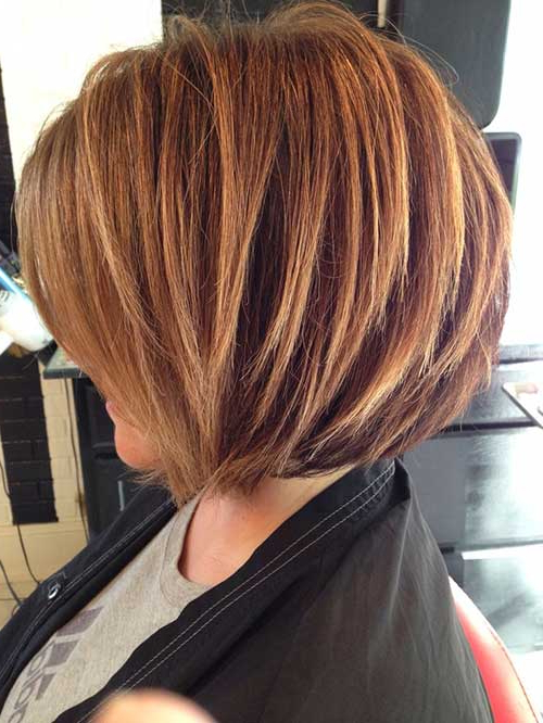 35 Short Stacked Bob Hairstyles   Short Hairstyles 2017 – 2018 Within Stacked Bob Hairstyles With Highlights (View 8 of 25)