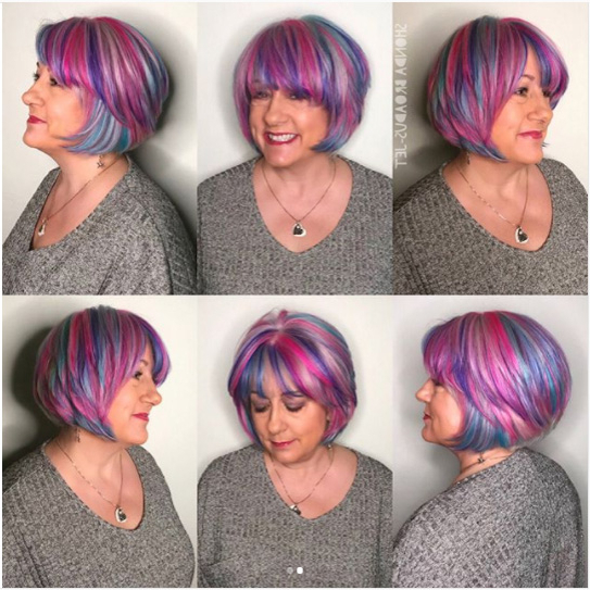 35 Short Straight Hairstyles Trending Right Now (Updated For 2018) With Asymmetrical Unicorn Bob Haircuts (View 23 of 25)