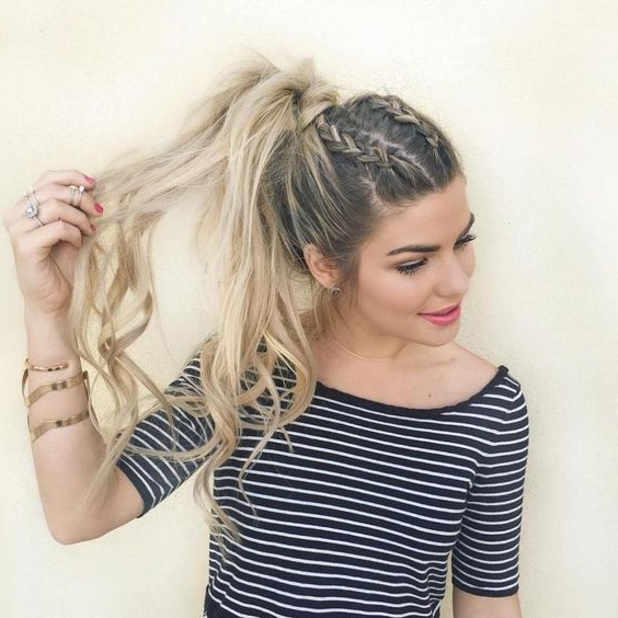 35 Two French Braids Hairstyles To Double Your Style Within Messy Double Braid Ponytail Hairstyles (View 18 of 25)