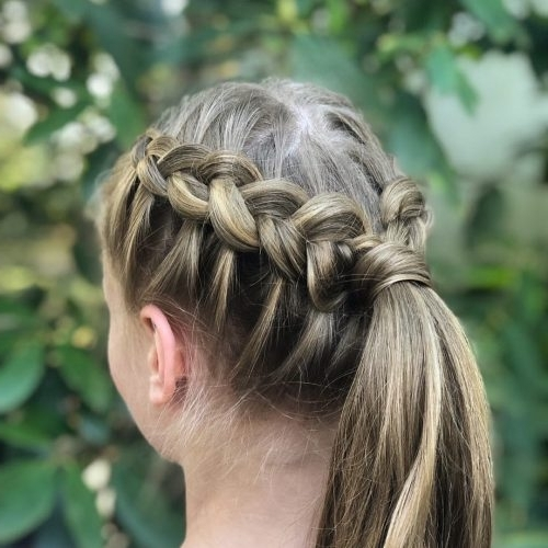 36 Cute French Braid Hairstyles For 2018 Within Pony And Dutch Braid Combo Hairstyles (View 20 of 25)