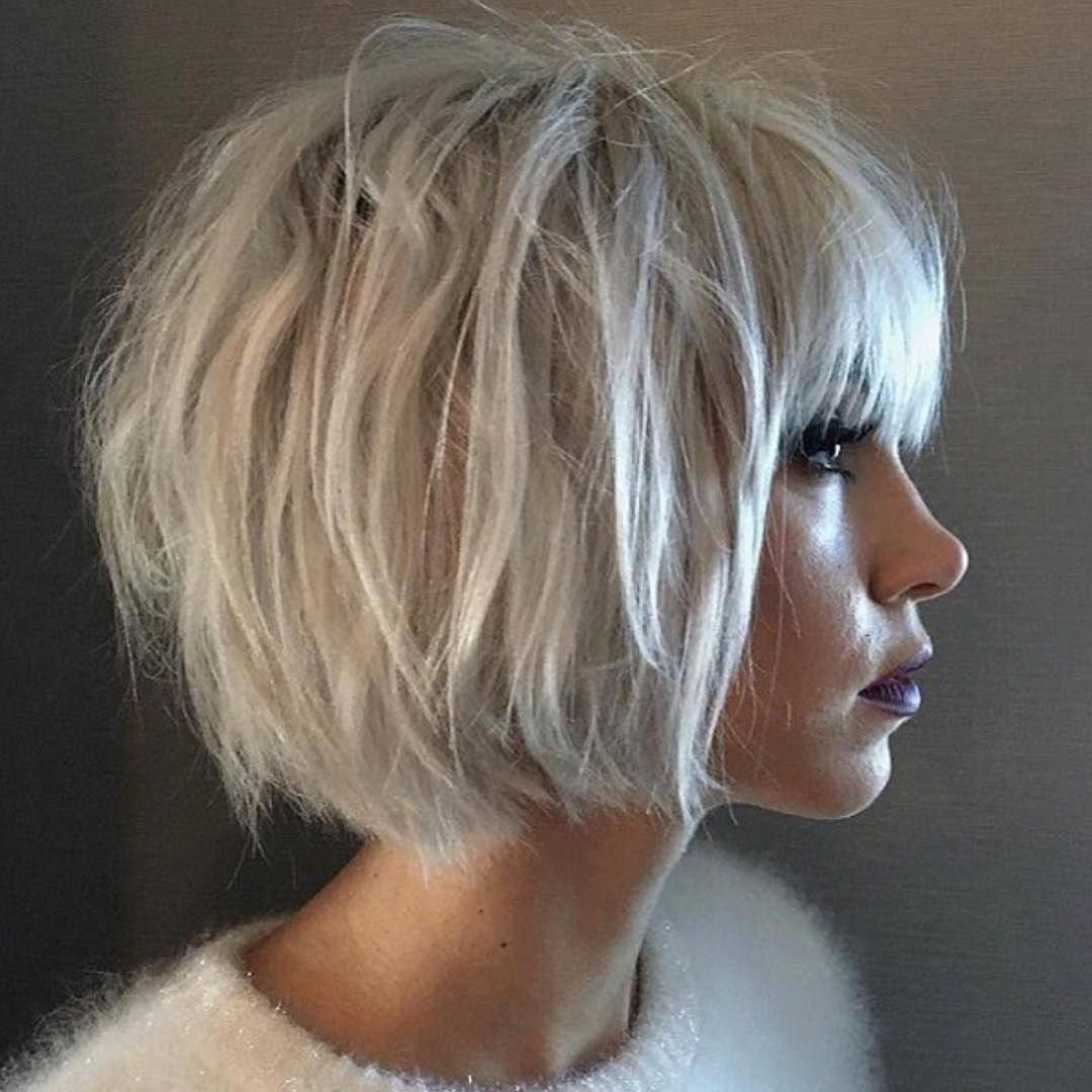 36 Stunning Hairstyles & Haircuts With Bangs For Short, Medium Long Pertaining To Short Blonde Hair With Bangs (View 10 of 25)