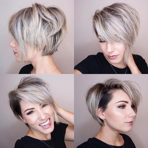 360 Pixie Cut, 360 Short Hair, Bob Haircut, @chloenbrown | Hair Dos With High Shine Sleek Silver Pixie Bob Haircuts (View 2 of 25)