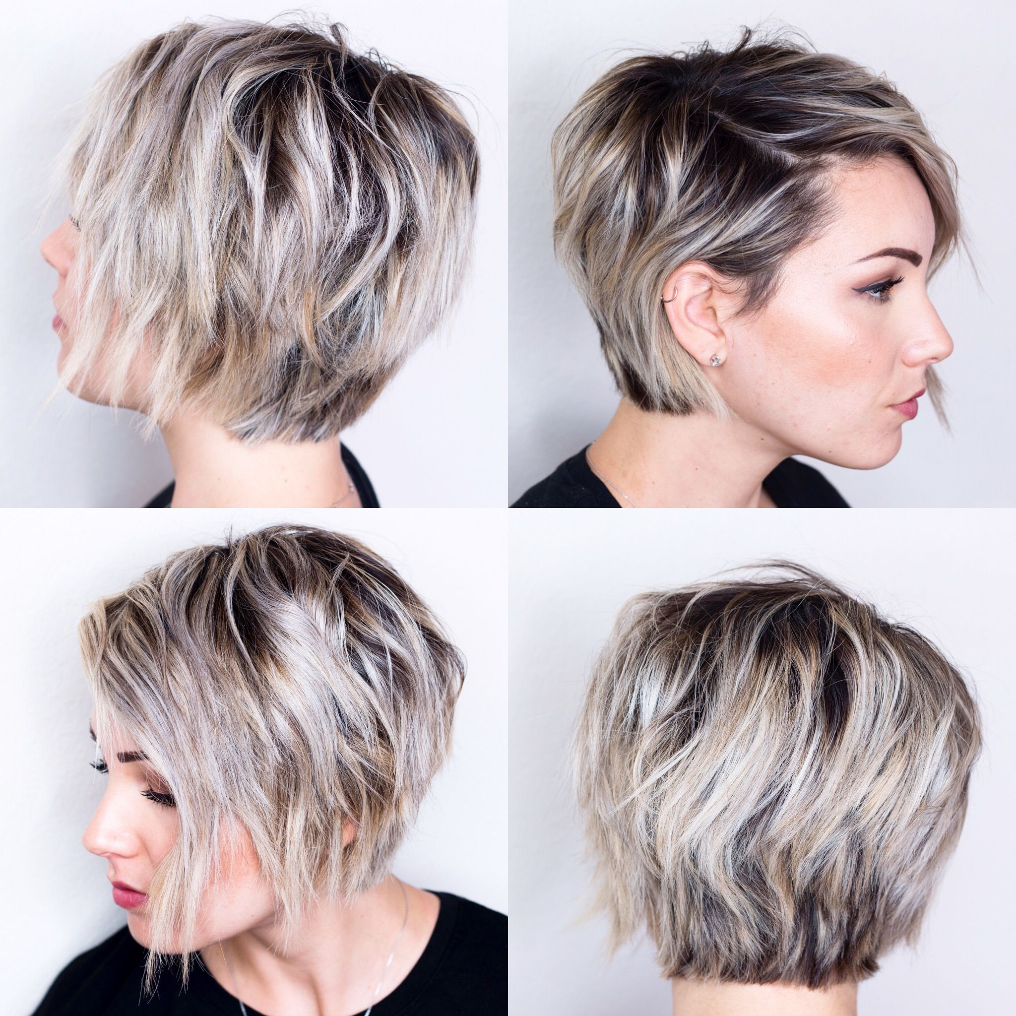 360 View Of Short Hair | H A I R In 2018 | Pinterest | Short Hair Intended For Short Haircuts For Chubby Oval Faces (View 10 of 25)