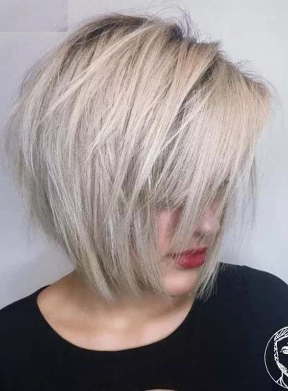 37 Best Chin Length Choppy Ash Blonde Bob Haircuts 2018 With Bangs Inside Choppy Rounded Ash Blonde Bob Haircuts (View 2 of 25)