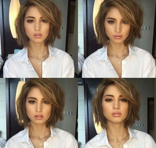 37+ Cute Short Bob Haircuts And Hairstyles For Women In 2018 With Burgundy And Tangerine Piecey Bob Hairstyles (View 25 of 25)