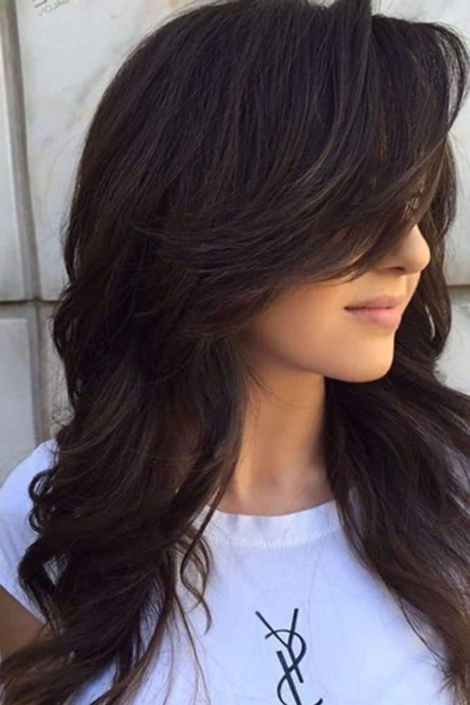 37 Long Haircuts With Layers For Every Type Of Texture | Hair And Within Long Feathered Espresso Brown Pixie Hairstyles (View 7 of 25)