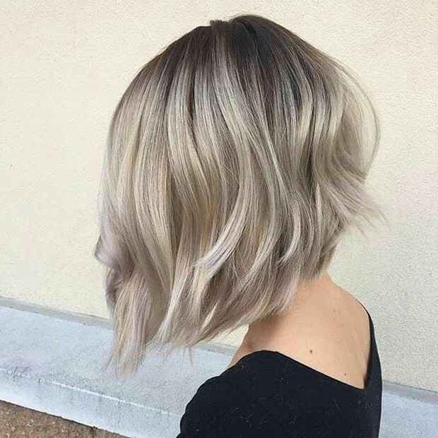 37 Short Ombre Hairstyles To Spice Up A Short Do Inside Messy Shaggy Inverted Bob Hairstyles With Subtle Highlights (View 23 of 25)