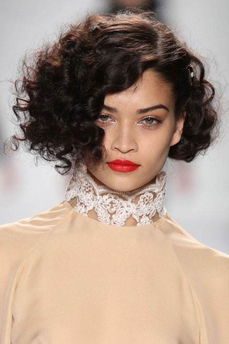 38 Best Cute Short Curly Hairstyles Images On Pinterest | Curls With Regard To Short Haircuts For Naturally Curly Hair And Round Face (View 6 of 25)