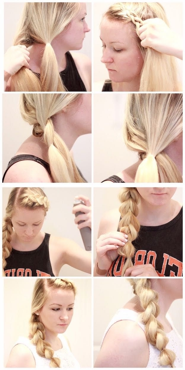 38 Glam Ponytail Tutorials | Pinterest | Ponytail Tutorial, Simple Pertaining To Braided Glam Ponytail Hairstyles (View 12 of 25)