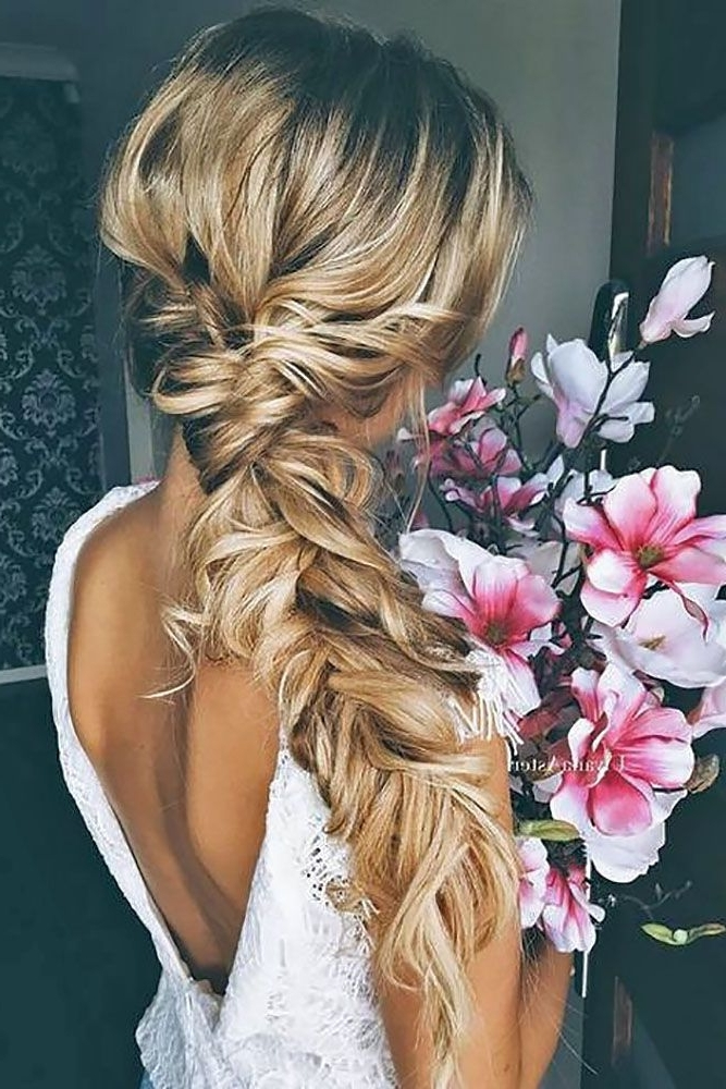 39 Braided Wedding Hair Ideas You Will Love | Braided Hairstyles For Flowy Side Braid Ponytail Hairstyles (View 5 of 25)
