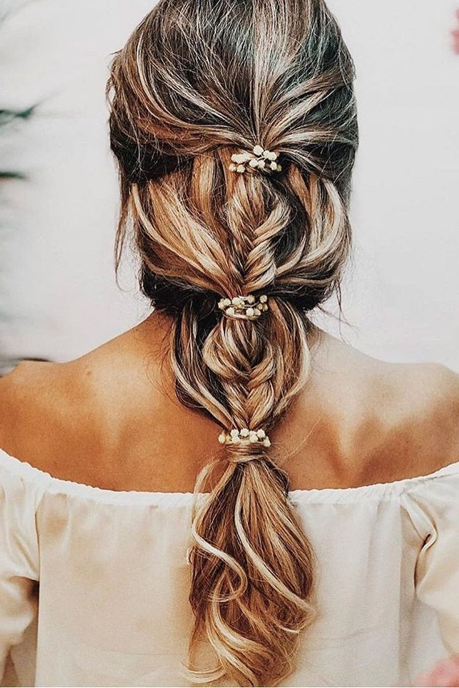 39 Greek Wedding Hairstyles For The Divine Brides ? Greek Wedding Pertaining To Cascading Braided Ponytails (View 3 of 25)