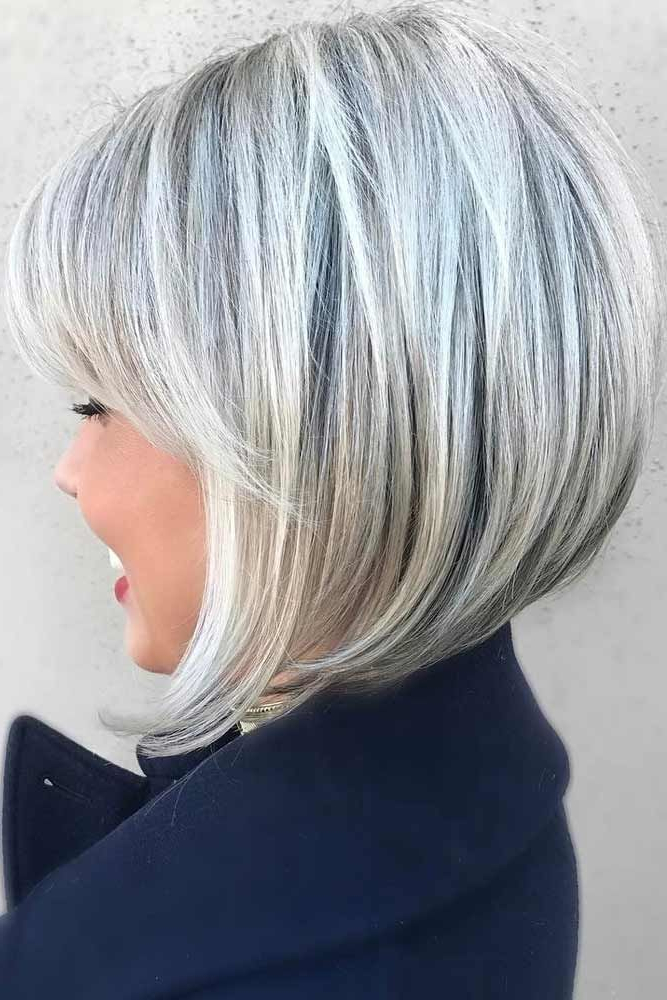 39 Short Layered Hairstyles For Women   My Hair   Pinterest   Hair In Silver Balayage Bob Haircuts With Swoopy Layers (View 19 of 25)